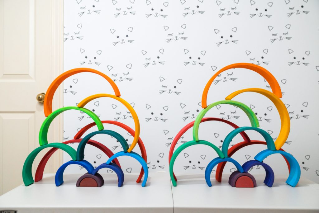 Grimms rainbow ideas for stacking